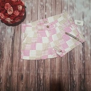 BeBop patchwork shorts NWT